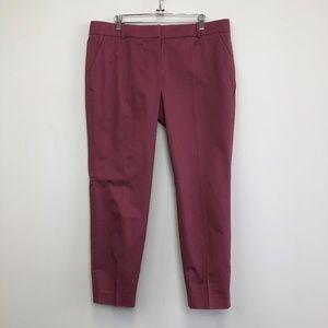 NWT J Crew Dried Rose Color Cafe Capri Pants